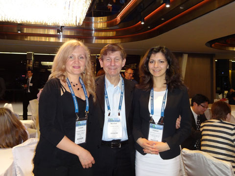 Ms. Vitaliya Sinitsyna (IPR GROUP), Marshall A. Lerner (KLEINBERG & LERNER, LLP), Ms. Victoria Soldatova (IPR GROUP) at the reception of CCPIT Patent And Trademark Law Office
