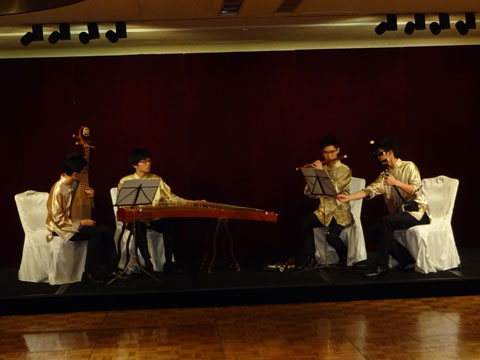 Traditional Chinese music band at the reception of CCPIT Patent And Trademark Law Office
