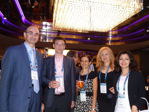 Dr. Franz-Martin Orou (FMO RECHTSANWALTSKANZLEI), Mr. Kirill Kistersky (IPR GROUP), Ms. Margarita Castellanos (CASTELLANOS & CO), Ms. Victoria Soldatova, Ms. Vitaliya Sinitsyna (IPR GROUP) at the reception of CCPIT Patent And Trademark Law Office