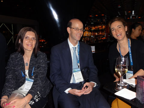 Ms. Nicoleta TARCHILA, (CABINET ENPORA), Mr. Nicolas O'Farrell (ESTUDIO APELLANIZ & O'FARRELL), Ms. Irmak Yalciner (YALCINER PATENT AND CONSULTING LTD) at the IPR Group reception