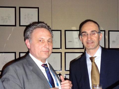 Mr. Eckard NACHTWEY (NACHTWEY IP), Dr. Franz-Martin Orou (FMO RECHTSANWALTSKANZLEI) ) at the IPR Group reception