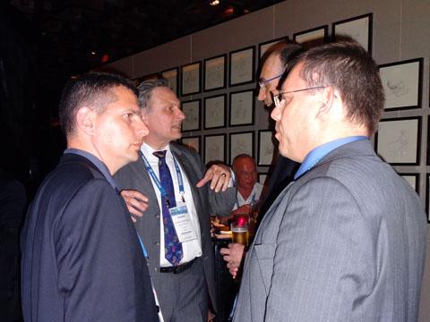 Mr. Ariel Ariel Dubinsky (ARIEL DUBINSKY – LAW), Mr. Eckard NACHTWEY (NACHTWEY IP), Dr. Franz-Martin Orou (FMO RECHTSANWALTSKANZLEI), Dr. Klaus Latzel (LATZEL-IP) ) at the IPR Group reception