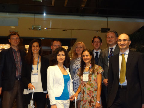 Mr. Kirill Kistersky (IPR GROUP), Ms. Ximena Castellanos (CASTELLANOS & CO), Dr. Klaus Latzel (LATZEL-IP), Ms. Vitaliya Sinitsyna (IPR GROUP), Ms. Victoria Soldatova (IPR GROUP), Ms. Margarita Castellanos (CASTELLANOS & CO), Mr. Samuel Sebastian Summer (FMO RECHTSANWALTSKANZLEI), Mr. Eckard NACHTWEY (NACHTWEY IP), Dr. Franz-Martin Orou (FMO RECHTSANWALTSKANZLEI ) at the IPR Group reception